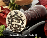 Payne Family Crest Wax Seal D15