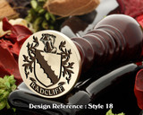 Radcliff Family Crest Wax Seal D18