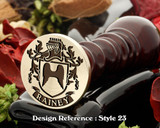 Rainey Family Crest Wax Seal D23