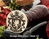 Reade Family Crest Wax Seal D15