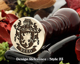 Reed Family Crest Wax Seal D23