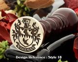 Wakeman Family Crest Wax Seal D18