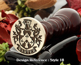 Warter Family Crest Wax Seal D18