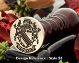 Wescott Family Crest Wax Seal D23