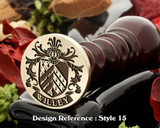 Willey Family Crest Wax Seal D15
