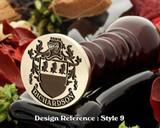 Richardson Family Crest Wax Seal D9