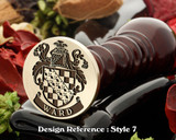 Ward Family Crest Wax Seal D7