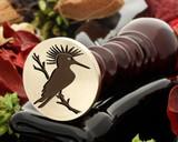 Hoopoe Bird Wax Seal Stamp