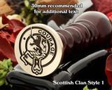 Cumming Scottish Clan Wax Seal D1