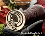 Dunbar Scottish Clan Wax Seal also available for Cufflinks and Signet Rings D1