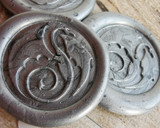 Dragon 27 Peel and Stick wax seal stickers Silver