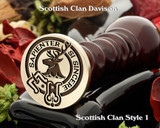 Davidson (1) Scottish Clan Wax Seal D1