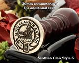 Baillie Scottish Clan Wax Seal D3