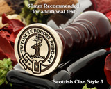 Crawford Scottish Clan Badge Wax Seal D3