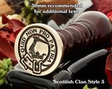 Dewar Scottish Clan Wax Seal D3