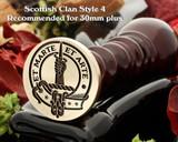 Bain Scottish Clan Wax Seal D4