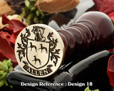 Allen Family Crest Wax Seal D18
