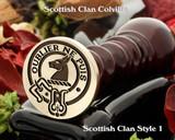 Colville Scottish Clan Wax Seal, Cufflinks, Signet Rings D1