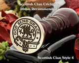 Crichton Scottish Clan Wax Seal, Cufflinks, Signet Rings D4