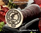 Eliott Scottish Clan Wax Seal, Cufflinks, Signet Rings D1