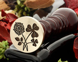 Rose and Shamrock Wax Seal Stamp