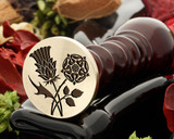 Thistle and Rose Wax Seal D1