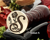 Rose Initial S Wax Seal Design - Engraved to Order