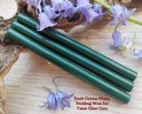 Dark Green Plain sealing wax for 7mm glue gun