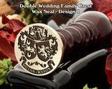 Double Wedding Family Crest Wax Seal D1