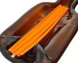 Tangerine Tear Tape Ribbon Strips - pack of 100 (brighter than the photo)