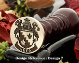 Shea Family Crest Wax Seal D7