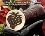 Strawberry Wax Seal Design