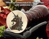 Heraldry Unicorn Head Coupled Wax Seal