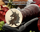 Heraldry Unicorn Head Erased Wax Seal