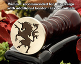 Heraldry Unicorn Rampant D2 Wax Seal