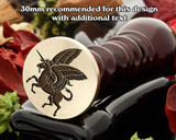 Heraldry Winged Unicorn Wax Seal