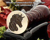 Unicorn D3 Wax Seal Stamp
