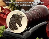 Unicorn D3 Wax Seal Stamp