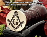 Masonic Square and Compass D7 Wax Seal
