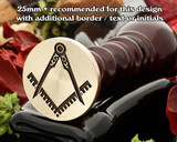 Masonic Square and Compass D8 Wax Seal