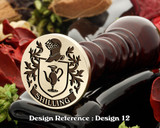 Shilling (Germany) Heraldry Family Crest Wax Seal stamp