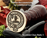 Paterson Scottish Clan Wax Seal D1