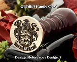 O'Brien Family Crest Wax Seal D7