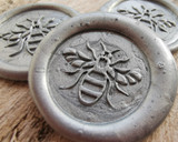 Manchester Bee Peel and Stick Wax Seals Silver