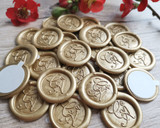 9 ct Gold Pearl Metallic for peel and stick wax seal stickers