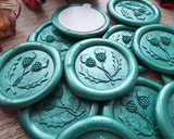 Twisted Thistle Self Adhesive Wax Seal Emerald Green