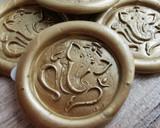 Ganesh Adhesive Wax Seal Stickers 9ct Gold