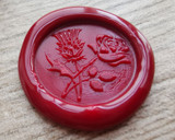 Thistle and Rose D3 Peel and Stick Adhesive wax seal - all colours