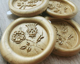 Rose and Thistle D4 Wax Seal Stickers - all colours -  9ct Gold