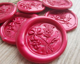 Shamrock and Thistle Self Adhesive Wax Seal Stickers - Pearl Ruby Red - all colours available